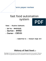 review on fast food automation...