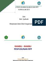 Rambu-Rambu Penyusunan RPP