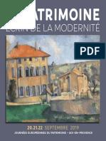 """Programme des """"Journées européennes du patrimoine"""" à Aix"""