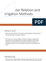 Soil-Water Relation and Irrigation Methods