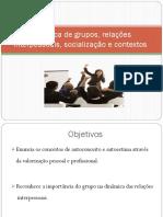 Ppts_ufcd_6687_dinamicas de Grupos e Relações Interpessoais