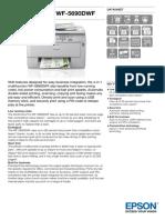 WorkForce Pro WF 5690DWF Fişă Tehnică UK