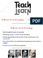 Reflective Level of Teaching