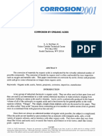 Corrosion By Organic Acids