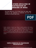Simple Steps Involved in Registration of Trademark
