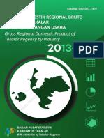 Produk Domestik Regional Bruto Kabupaten Takalar Menurut Lapangan Usaha 2013-2017