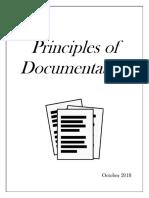 Principles of Documentation Oct 2018