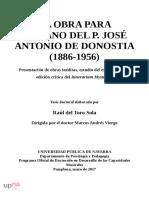 LA OBRA PARA ÓRGANO DEL P. JOSÉ ANTONIO DE DONOSTIA (1886-1956)