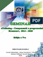 Revista -  Seminar eTwinning  Componenta a programului Erasmus++