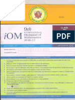 Class 8 Paper IOM 2016