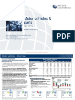Global Industry Forecast - Motor Vehicles Q3 2019