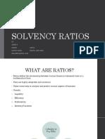 Solvency Ratios Final