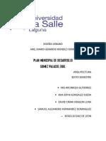 Plan Municipal de Desarrollo Gomez Palacio