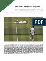 Roger Federer - The Champion's Way Back