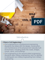 Role of Civil Engineers and Different Branches of Civil Engineering