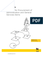 Planning for Procurment of Administration and General Service Items (3)