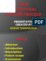 Ppt of Centrifugal Casting Process