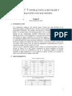 Extracción Ácido Base y Extracción Con Solventes