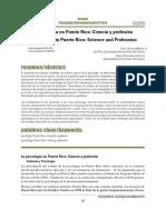 La Psicología en Puerto Rico Ciencia y Profesión