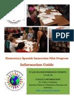 Spanish Immersion Information Guide-FAQ 4 19