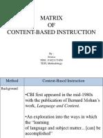 Ppt Matrix Cbi