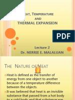 Lec 2 - Thermal Expansion
