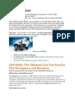 # 0 Soft Skills List