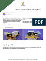 How to Build SMPS Transformer Home Make 12V 10A Sw