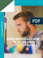 Evalueringsrapport Borgernes Adgang Til Egne Data