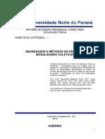POrtfolio Em Grupo 5 Semestre -abordagens e métodos no ensino de modalidades coletivas