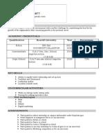 Kavu Resume