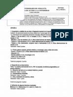 Examen Selectividad Andalucía H. de la Música y Danza 2003.
