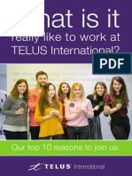 Top 10 Reasons to Join TELUS International