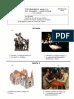 Examen Selectividad Andalucía H. del Arte 2001.