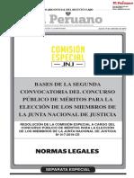 Bases de la segunda convocatoria del concurso para el cargo de miembro de la Junta Nacional de Justicia