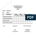 Checklist Pemantauan Instalasi Air
