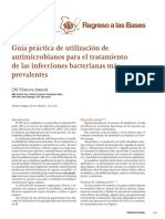 Antibioticos en infecciones bacterianas prevalentes