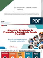 Situación y Estrategias de Prevención y Control de La Anemia Perú 2019