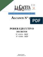 Decreto Ejecutivo n40862 Mep