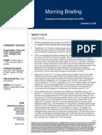 CFRA S&P Morning Briefing 19 Sep 2019