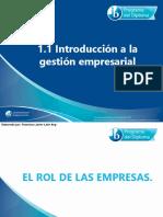 1 1 Introducci-n a La Gesti-n Empresarial
