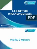 1 3 Objetivos Organizacionales