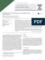 Minimally Invasive Versus Open Repair of Bochdalek Hernia a Meta Analysis 2014 Journal of Pediatric Surgery