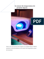 Reparo Do Sensor de Temperatura Do Projetor Epson