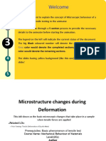 Microscopic State of Metals During Deformation