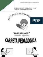 CARPETA PEDAGOGICA 2015