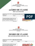 Capa Do Diário Ed Infantil