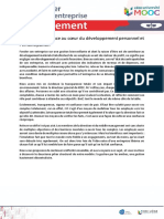 MoD 3.6 La Transparence
