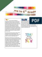 fifth grade team newsletter  2