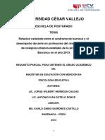 Tesis Proyecto Universidad César Vallejo- Bornout